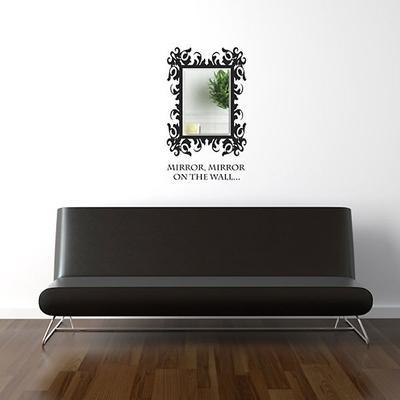 Baroque Rectangle Mirror Wall Sticker