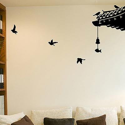 Oriental Roof Wall Sticker Set
