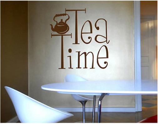 Tea Time Wall Sticker