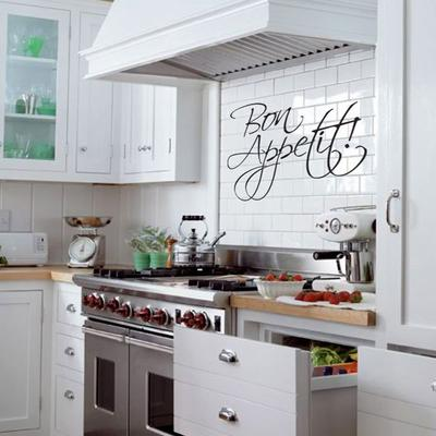 Bon Appetit Wall Sticker - Large