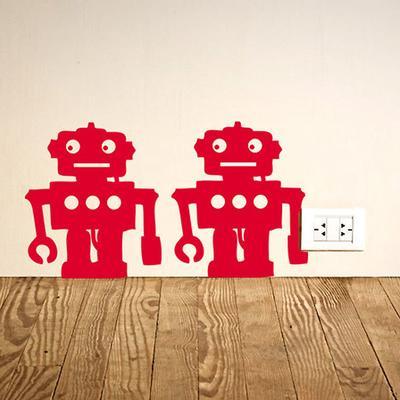 Robots Wall Sticker - Set of 12