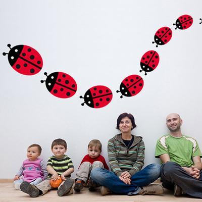 Family Ladybird Wall Sticker Set