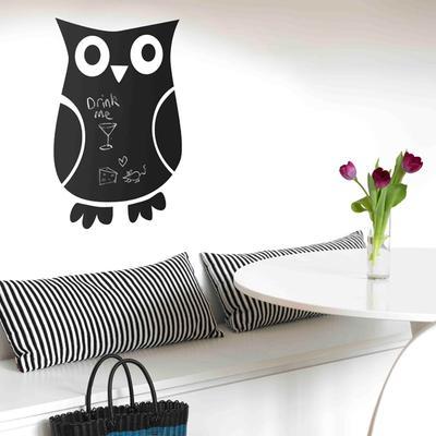 Owl Blackboard Wall Sticker