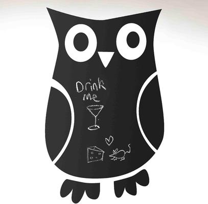 Owl Blackboard Wall Sticker image 2