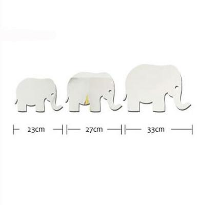 Elephant Mirror Wall Stickers image 2