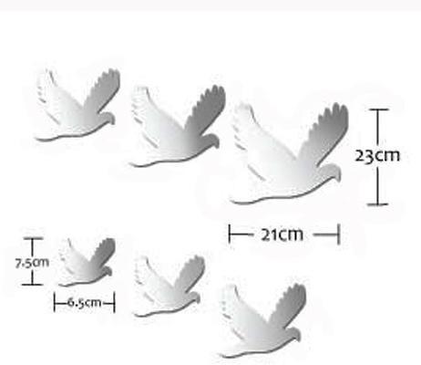 Flock of Birds Mirror Wall Stickers image 2
