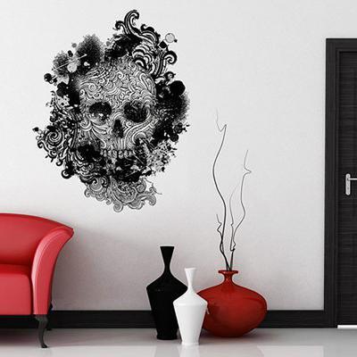 Skull Swirls Wall Sticker