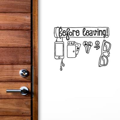 Before Leaving Checklist Wall Sticker