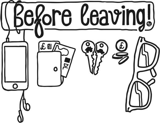 Before Leaving Checklist Wall Sticker image 2