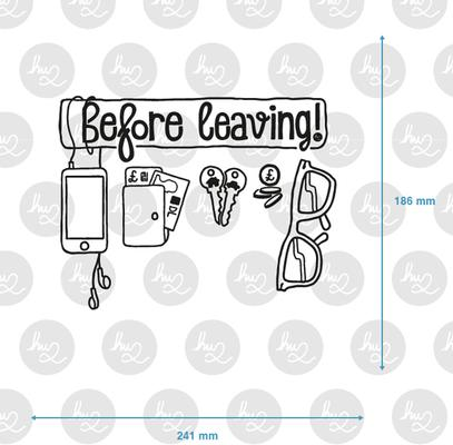 Before Leaving Checklist Wall Sticker image 3