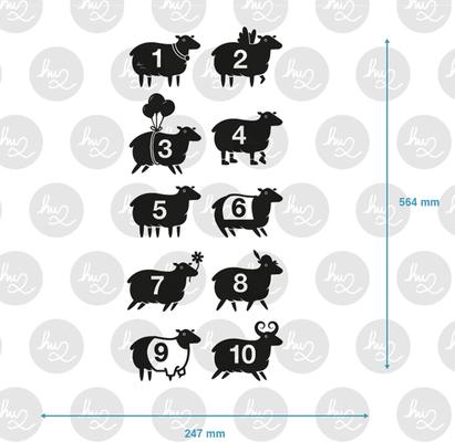 Counting Sheep Wall Sticker Set image 2