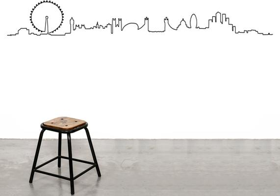 London City Skyline Wall Sticker
