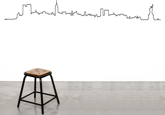 New York Skyline Line Wall Sticker