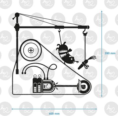 Hamster Treadmill Outlet Wall Sticker image 2