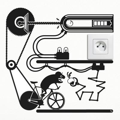 Hamster Fixie Bike Outlet Wall Sticker
