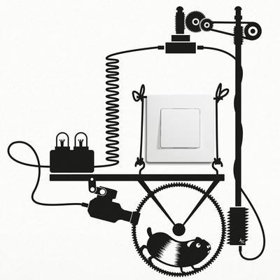 Hamster Wheel Light Switch Wall Sticker