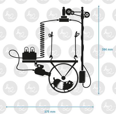 Hamster Wheel Light Switch Wall Sticker image 2