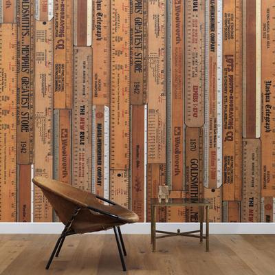 Printed Rulers Wallpaper Large