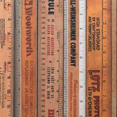 Printed Rulers Wallpaper Large image 2