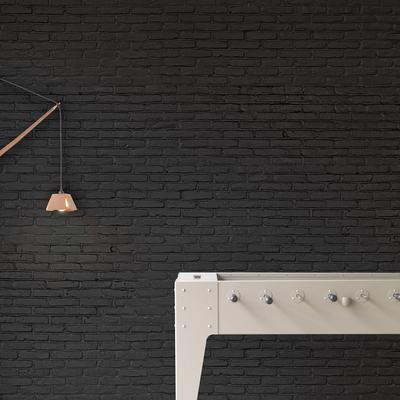 Black Brick Wallpaper by Piet Hein Eek