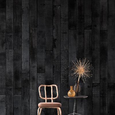 Burnt Wood Wallpaper by Piet Hein Eek
