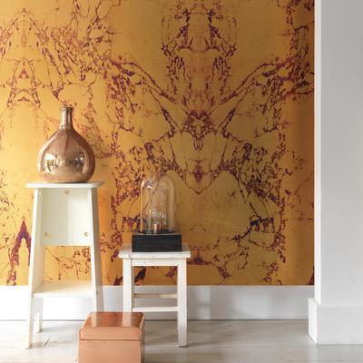 Gold Metallic Marble Wallpaper by Piet Hein Eek