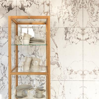 White Marble Wallpaper by Piet Hein Eek
