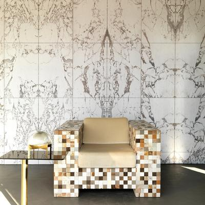White Marble Wallpaper by Piet Hein Eek image 2