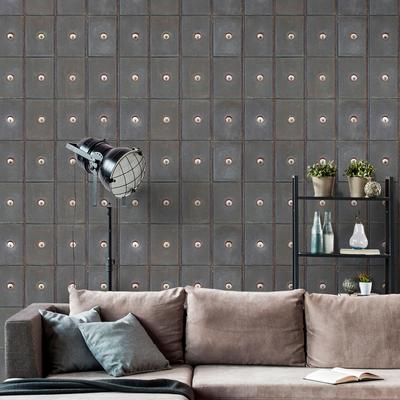 Industrial Metal Cabinets Wallpaper