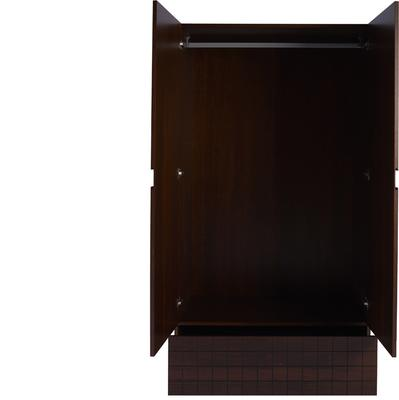Barcelona Wardrobe with Drawer in Grid Texture - Walnut image 2
