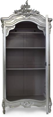 Black French Armoire with Mirrored Front image 3