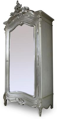 Black French Armoire with Mirrored Front image 6