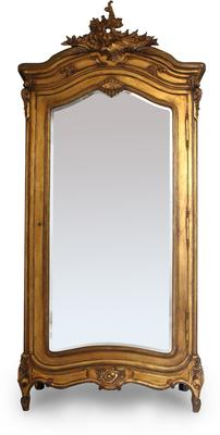Black French Armoire with Mirrored Front image 9