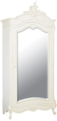 Black French Armoire with Mirrored Front image 17