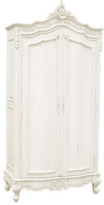 French Chateau Armoire White
