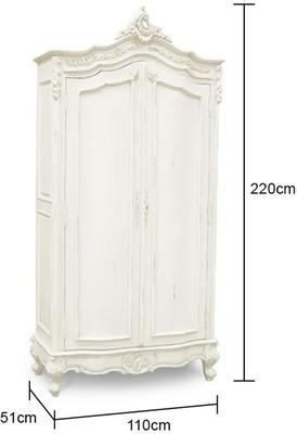 French Chateau Armoire White image 2