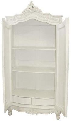 French Chateau Armoire White image 3