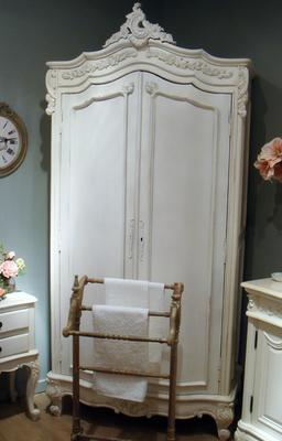 French Chateau Armoire White image 4