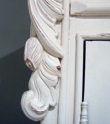 French Chateau Armoire White image 5
