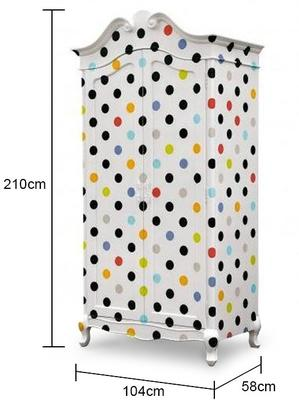 Contemporary Armoire - Polka Dot, Stripes or Cartoon image 5
