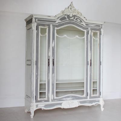 Large Glass-Fronted French Armoire