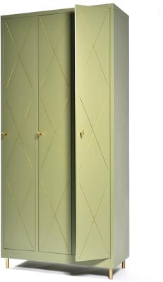 3 Door Art Nouveau Wardrobe image 4