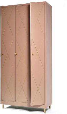 3 Door Art Nouveau Wardrobe image 5