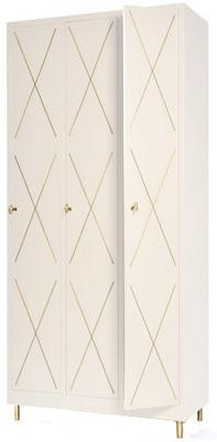 3 Door Art Nouveau Wardrobe image 6