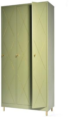 3 Door Art Nouveau Wardrobe image 8