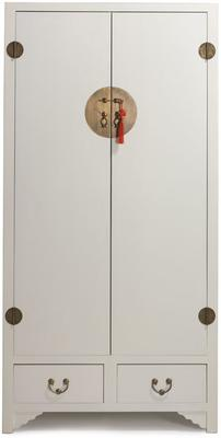 Ivory Lacquer Wardrobe with Butterfly Interior image 2