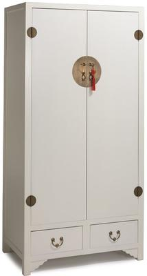 Ivory Lacquer Wardrobe with Butterfly Interior image 3
