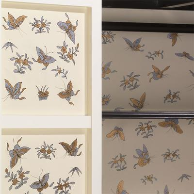 Ivory Lacquer Wardrobe with Butterfly Interior image 4