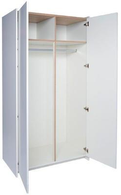 Essentials Kronospan Wardrobe Two Door - White and Oak