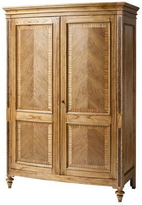 Spire Vintage Walnut Wooden Two Door Wardrobe